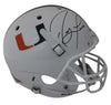 Ray Lewis Autographed Miami Hurricanes White Schutt Replica Helmet JSA PSM-Powers Sports Memorabilia