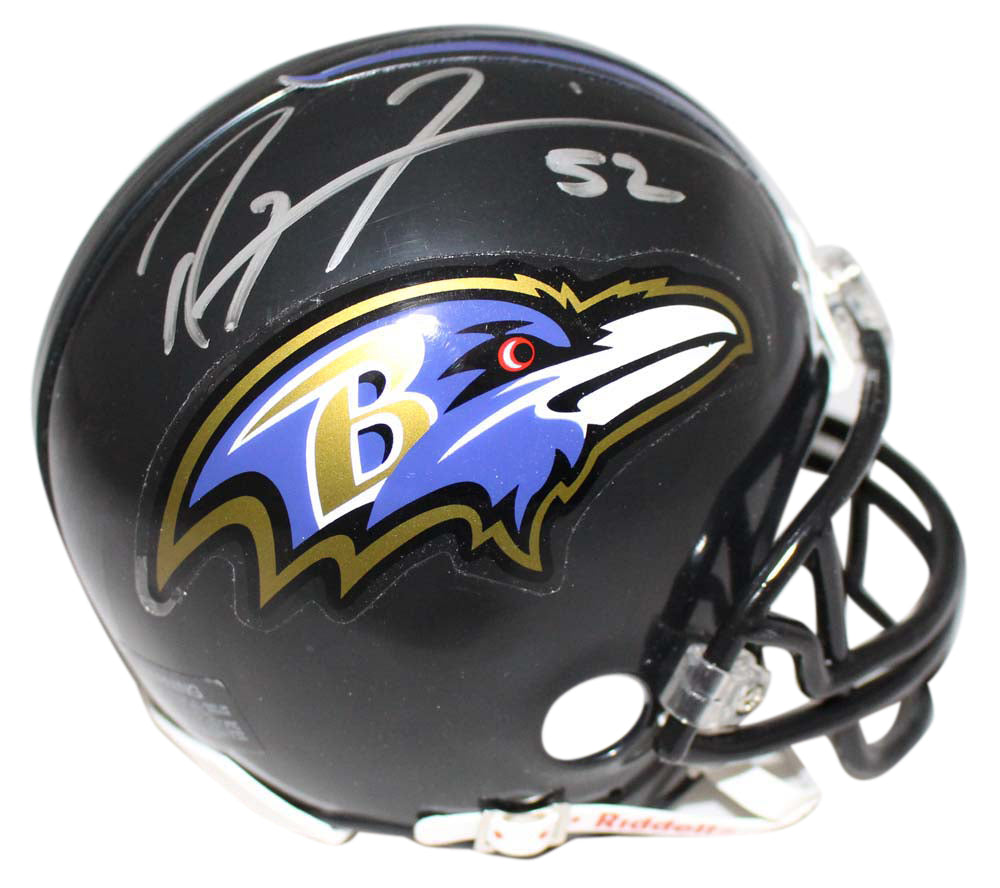 Ray Lewis Autographed/Signed Baltimore Ravens Mini Helmet JSA PSM-Powers Sports Memorabilia