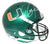 Ray Lewis Autographed Miami Hurricanes Green Schutt Replica Helmet JSA PSM-Powers Sports Memorabilia