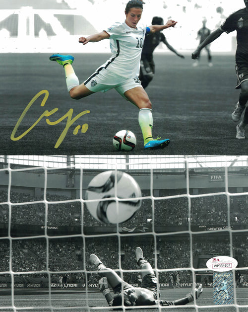 Carli Lloyd Autographed USA Womens Soccer 8x10 Photo (World Cup Goal) JSA PSM-Powers Sports Memorabilia