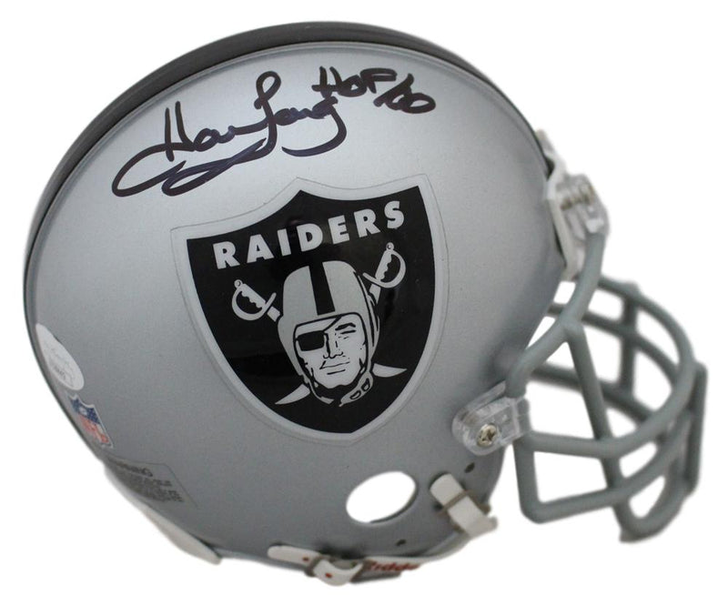 Howie Long Autographed Oakland Raiders Authentic Mini Helmet HOF JSA PSM-Powers Sports Memorabilia
