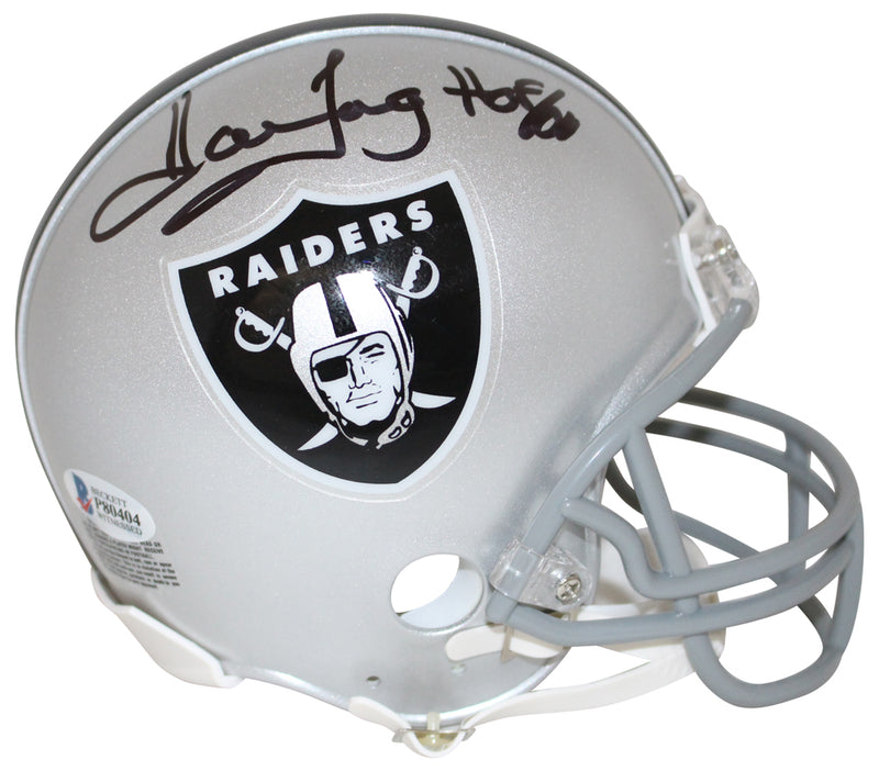 Howie Long Autographed/Signed Oakland Raiders Mini Helmet HOF BAS PSM-Powers Sports Memorabilia
