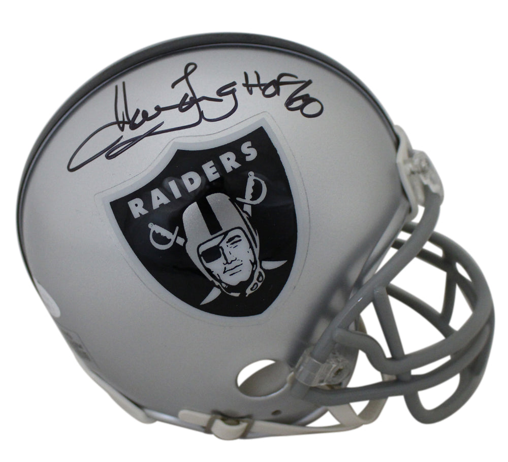 Howie Long Autographed/Signed Oakland Raiders Mini Helmet HOF JSA PSM-Powers Sports Memorabilia