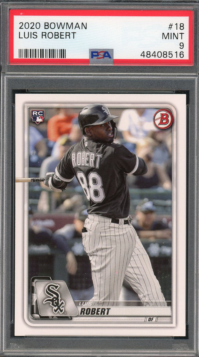 Luis Robert Chicago White Sox 2020 Bowman Baseball Rookie Card RC #18 Graded PSA 9 MINT-Powers Sports Memorabilia