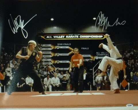 Ralph Macchio & Willaim Zabka Autographed Karate Kid 16x20 Photo PSA/DNA PSM-Powers Sports Memorabilia