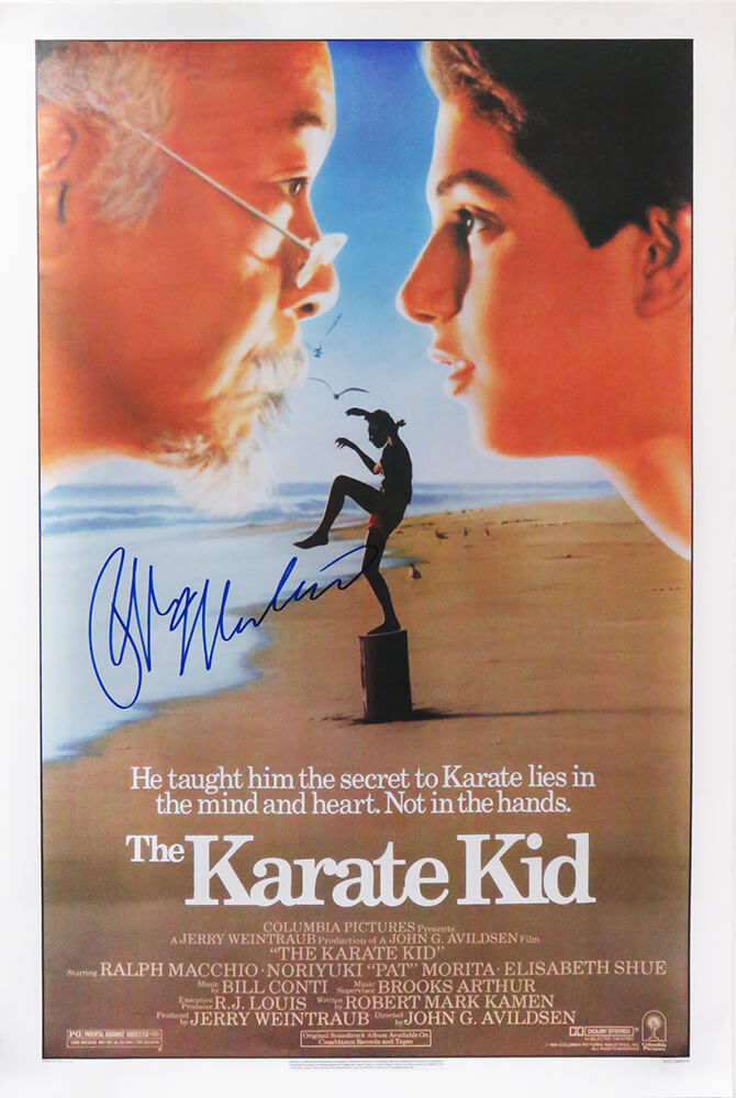 Ralph Macchio Signed The Karate Kid 27x40 Full Size Movie Poster PSM-Powers Sports Memorabilia