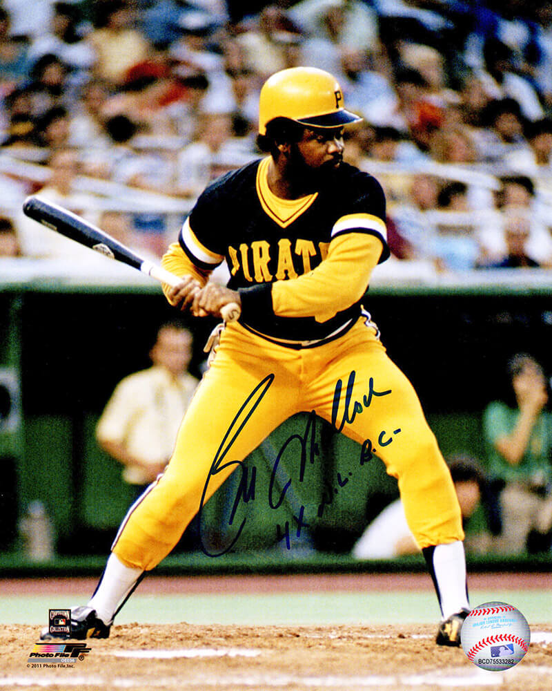Bill Madlock Signed Pittsburgh Pirates Batting Action 8x10 Photo w/4x NL BC PSM-Powers Sports Memorabilia
