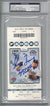 Greg Maddux Autographed/Signed San Diego Padres Ticket 350th W PSA Slab PSM