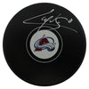 Cale Makar Autographed/Signed Colorado Avalanche Logo Hockey Puck JSA PSM-Powers Sports Memorabilia