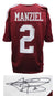 Johnny Manziel Signed Maroon Custom Football Jersey (JSA) PSM-Powers Sports Memorabilia