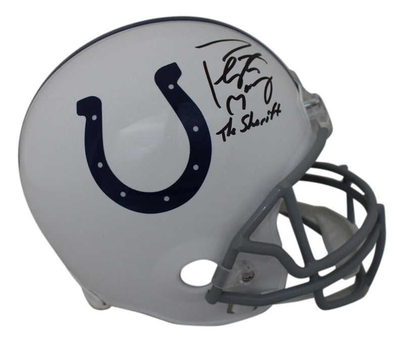 Peyton Manning Signed Indianapolis Colts Replica Helmet Sheriff FAN PSM-Powers Sports Memorabilia