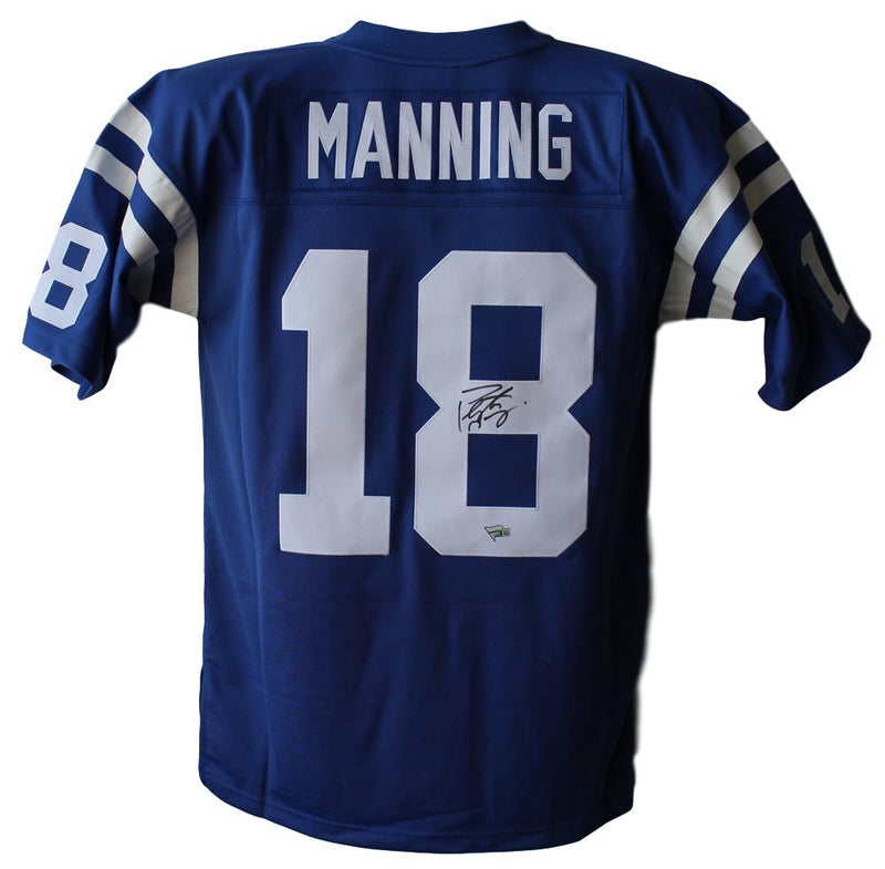Peyton Manning Signed Indianapolis Colts Mitchell & Ness 44 L Jersey FAN PSM-Powers Sports Memorabilia