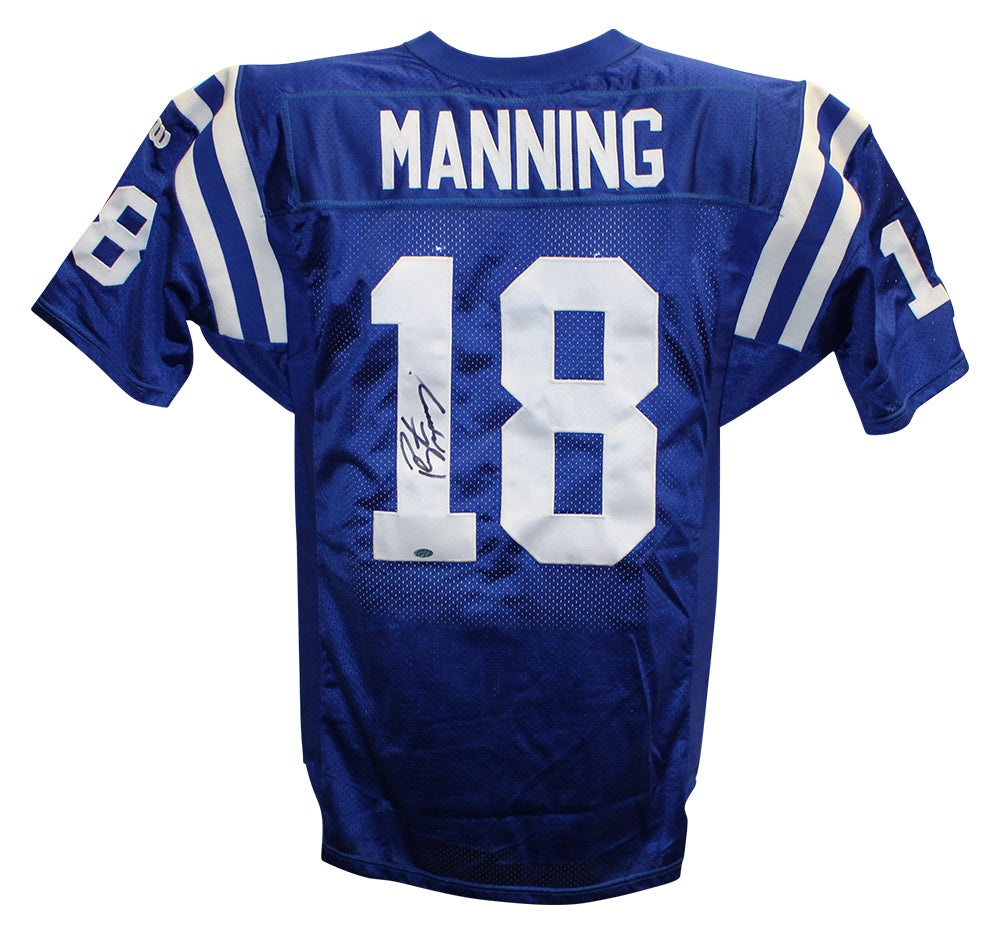Peyton Manning Autographed Indianapolis Colts Wilson Blue 46 Jersey MM PSM-Powers Sports Memorabilia