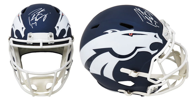 Peyton Manning Signed Denver Broncos AMP Alternate Series Riddell Full Size Speed Replica Helmet PSM-Powers Sports Memorabilia