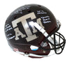 Johnny Manziel Signed Texas A&M Aggies Black Replica Helmet 4 Insc BAS PSM-Powers Sports Memorabilia