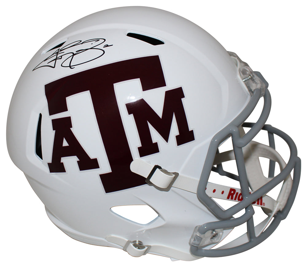 Johnny Manziel Autographed Texas A&M Aggies White Speed Replica Helmet JSA PSM-Powers Sports Memorabilia