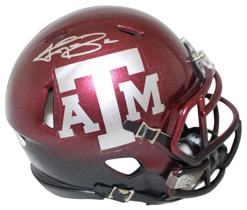 Johnny Manziel Autographed Texas A&M Aggies 2 Tone Mini Helmet JSA PSM-Powers Sports Memorabilia