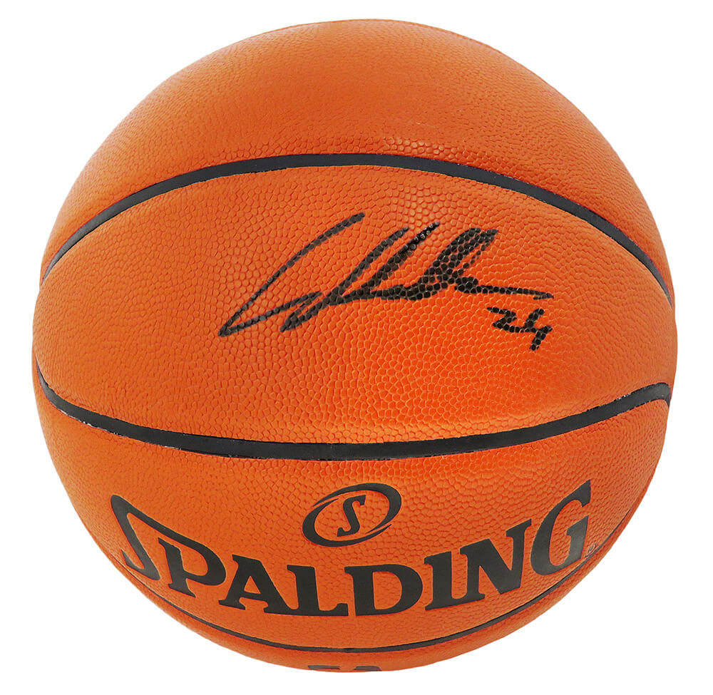 Lauri Markkanen Signed Spalding Game Series Replica NBA Basketball (JSA) PSM-Powers Sports Memorabilia