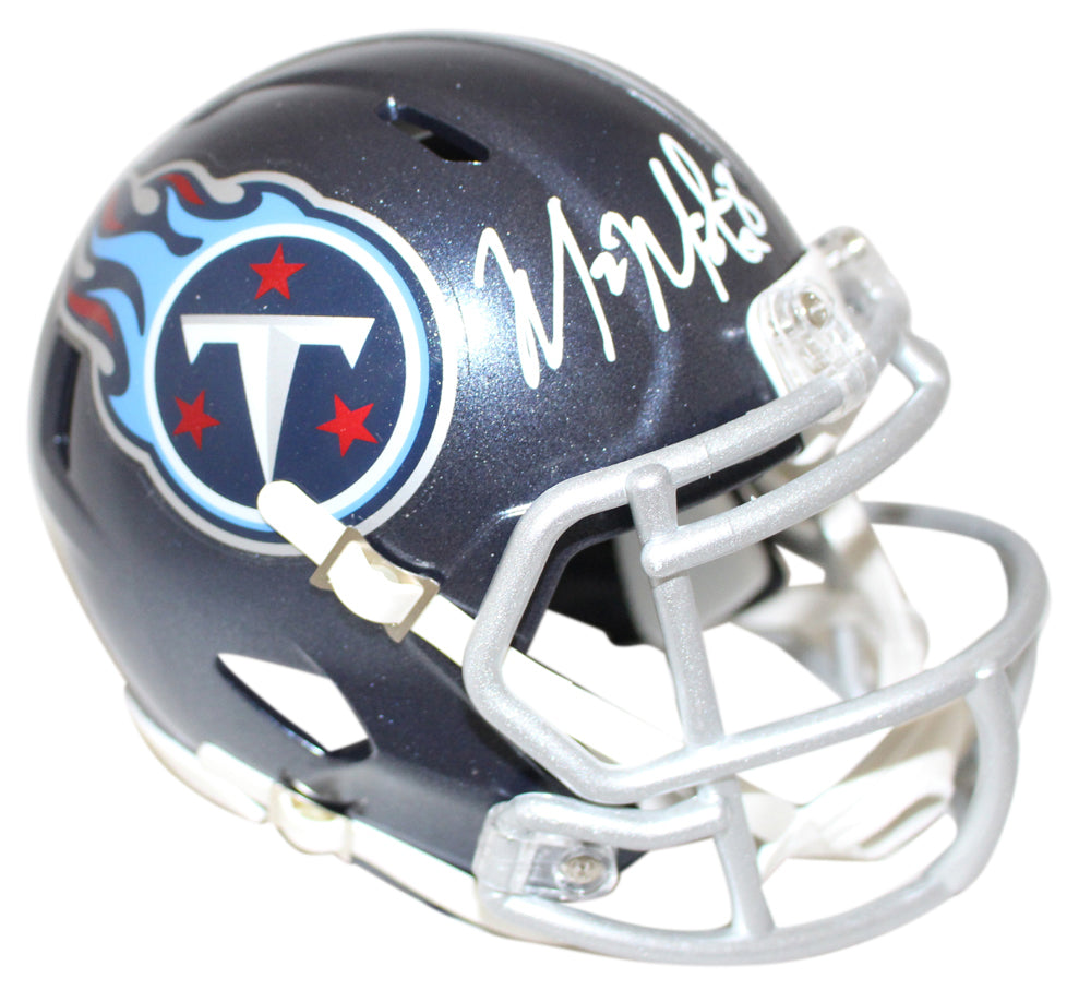 Marcus Mariota Autographed Tennessee Titans Speed Mini Helmet JSA PSM-Powers Sports Memorabilia