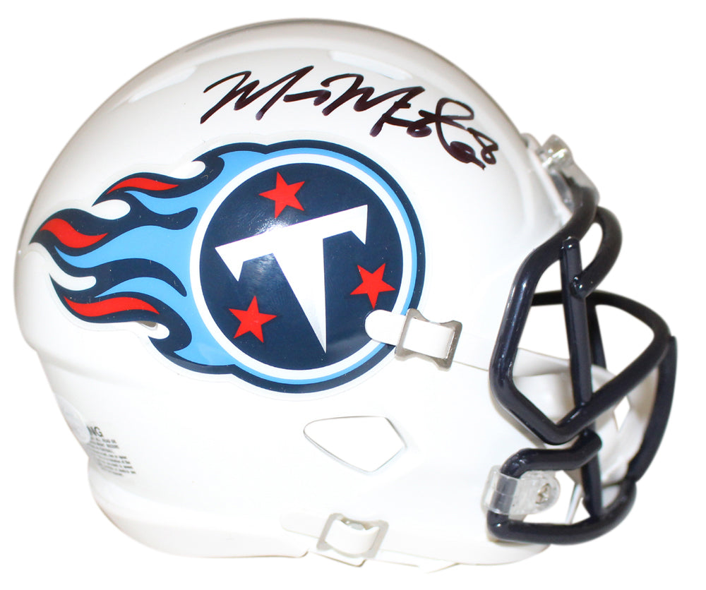 Marcus Mariota Signed Tennessee Titans White Speed Mini Helmet JSA PSM-Powers Sports Memorabilia