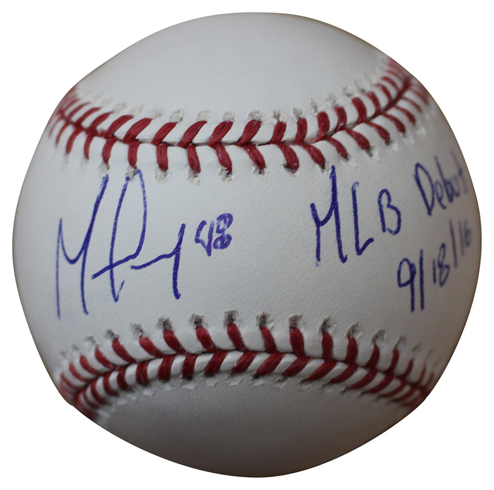 German Marquez Autographed Colorado Rockies OML Baseball MLB Debut PSM-Powers Sports Memorabilia