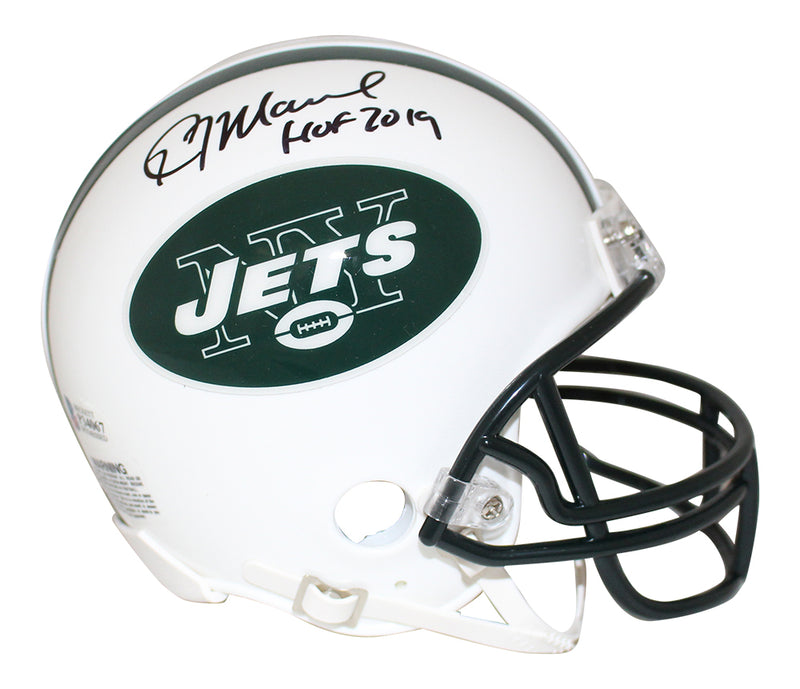 Kevin Mawae Autographed/Signed New York Jets Mini Helmet HOF BAS PSM-Powers Sports Memorabilia