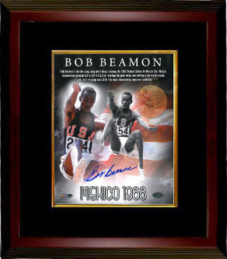 Bob Beamon signed Team USA Track & Field 8x10 Photo Custom Framed 1968 Mexico Olympics World Record PSM-Powers Sports Memorabilia