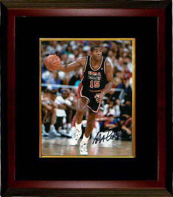 Magic Johnson signed Team USA Olympic Dream Team 8X10 Photo Custom Framing - JSA Hologram PSM-Powers Sports Memorabilia
