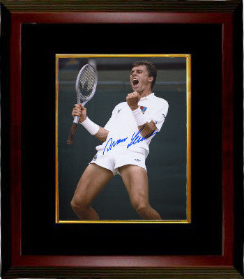 Ivan Lendl signed Tennis 8x10 photo Custom Framed (Wimbledon Victory) PSM-Powers Sports Memorabilia