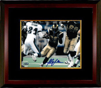 Marshall Faulk signed St. Louis Rams 8x10 Photo Custom Framing - Faulk Hologram PSM-Powers Sports Memorabilia