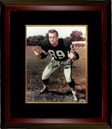 Gino Marchetti signed Baltimore Colts 8x10 Photo Custom Framed HOF 72 (hands up-black sig) PSM-Powers Sports Memorabilia