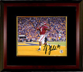 TJ Yeldon signed Alabama Crimson Tide 8X10 Photo Custom Framing #4 (horizontal TD vs LSU) PSM-Powers Sports Memorabilia