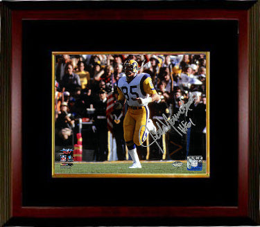 Jack Youngblood signed Los Angeles Rams 8x10 Photo Custom Framing w/ HOF 01 (Super Bowl XIV) PSM-Powers Sports Memorabilia
