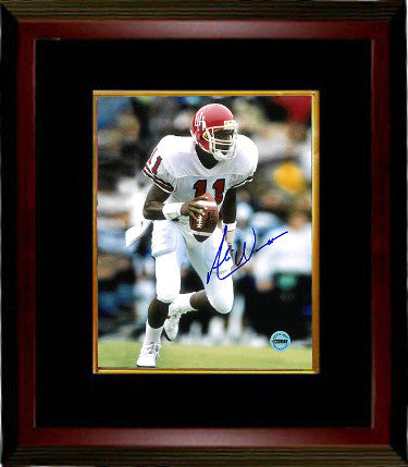 Andre Ware signed Houston Cougars 8x10 Photo Custom Framing (white jersey-Heisman) PSM-Powers Sports Memorabilia