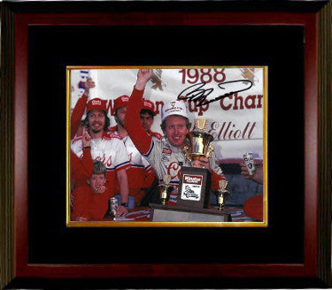 Bill Elliott signed NASCAR 8x10 Photo Custom Framed (1988 Winston Cup Champion) PSM-Powers Sports Memorabilia