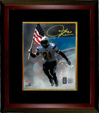 Ladainian Tomlinson signed San Diego Chargers 8x10 Photo Custom Wood Framing- Tomlinson Hologram PSM-Powers Sports Memorabilia