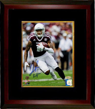 Josh Reynolds signed Texas A&M Aggies 8x10 Photo Custom Framing w/ Gig 'Em- Tri-Star Hologram (maroon jersey) PSM-Powers Sports Memorabilia