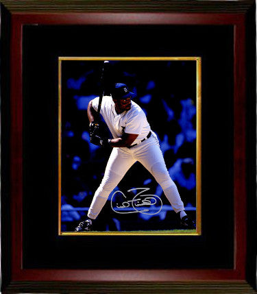 Cecil Fielder signed Detroit Tigers 8X10 Photo Custom Framing - Schwartz Hologram PSM-Powers Sports Memorabilia