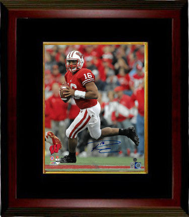 Russell Wilson signed Wisconsin Badgers 16X20 Photo Custom Framed #16- Wilson Hologram PSM-Powers Sports Memorabilia