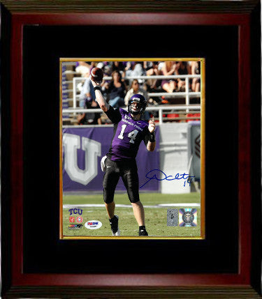 Andy Dalton signed TCU Horned Frogs 8x10 Photo Custom Framed- PSA Hologram PSM-Powers Sports Memorabilia