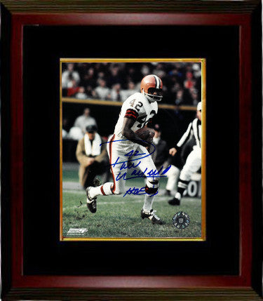 Paul Warfield signed Cleveland Browns Vintage 8x10 Photo Custom Framing #42 HOF 83 PSM-Powers Sports Memorabilia
