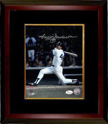 Reggie Jackson signed New York Yankees 8x10 Color Photo Custom Framing (1977 World Series)- JSA Witnessed Hologram PSM-Powers Sports Memorabilia