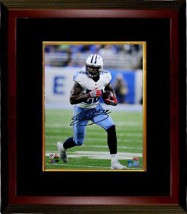 Derrick Henry signed Tennessee Titans 16x20 Photo #22 Custom Framing- Henry & Tri-Star Holograms (white jersey) PSM-Powers Sports Memorabilia