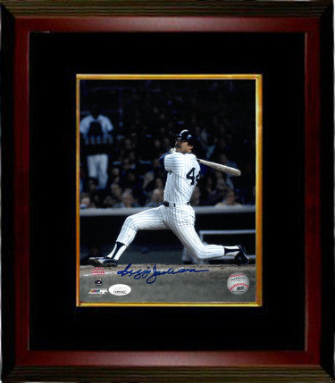 Reggie Jackson signed New York Yankees 8x10 Color Photo Custom Framing- JSA Witnessed Hologram (1977 World Series) PSM-Powers Sports Memorabilia