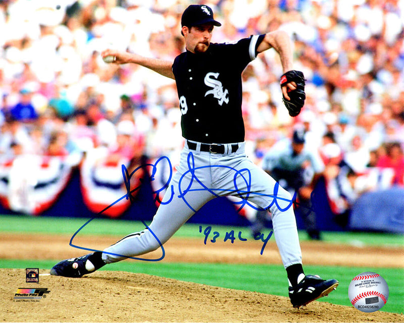 Jack McDowell Signed Chicago White Sox Pitching Action 8x10 Photo w/93 AL CY PSM-Powers Sports Memorabilia