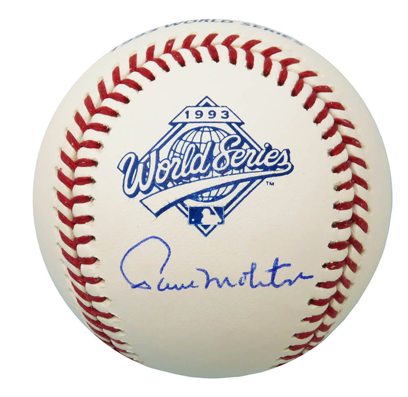 Paul Molitor Signed Rawlings Official 1993 World Series (Toronto Blue Jays) Baseball PSM-Powers Sports Memorabilia