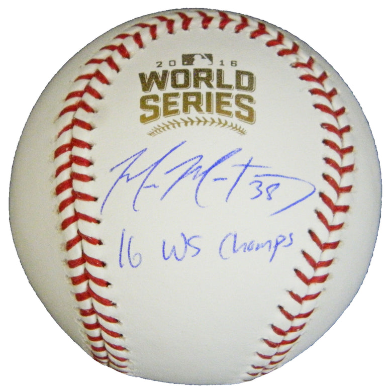 Mike Montgomery Signed Rawlings Official 2016 World Series Baseball w/16 WS Champs PSM-Powers Sports Memorabilia