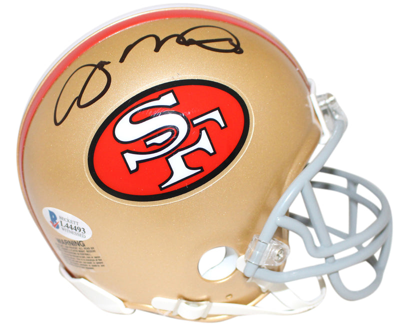 Joe Montana Autographed San Francisco 49ers Mini Helmet BAS PSM-Powers Sports Memorabilia