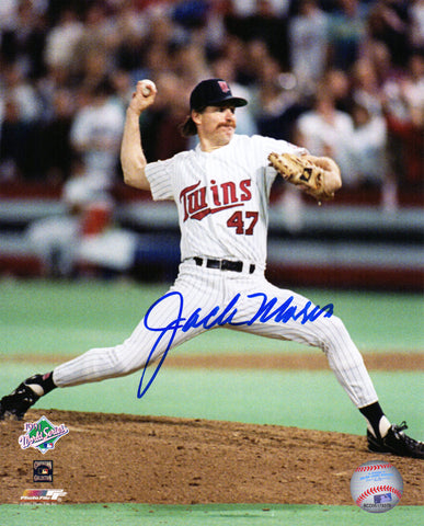 Jack Morris Signed Minnesota Twins 1991 World Series Pitching Action 8x10 Photo PSM-Powers Sports Memorabilia