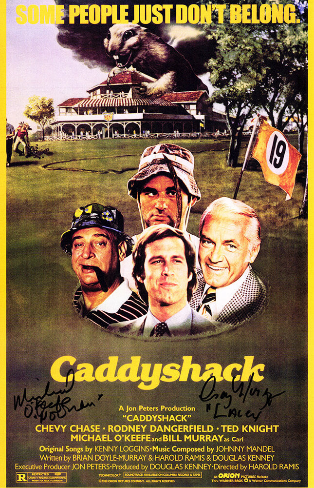 Cindy Morgan & Michael O'Keefe Signed Caddyshack 11x17 Movie Poster w/Lacey & Noonan PSM-Powers Sports Memorabilia